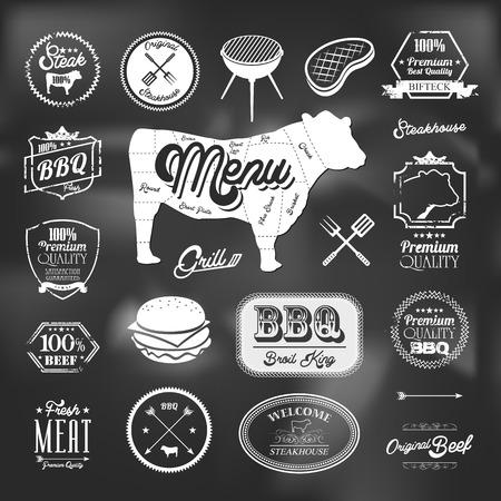 specialit�: Elementi di manzo specialit� del ristorante di design
