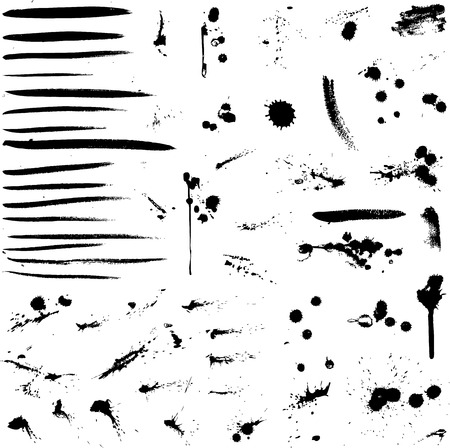 Abstract vector background ink paint splats Vector