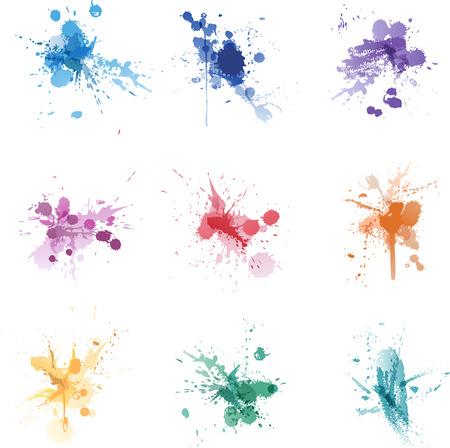 Collezione di colori vernice splat set Archivio Fotografico - 29797763
