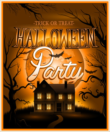 halloween poster: Felice Halloween illustrazione vettoriale poster