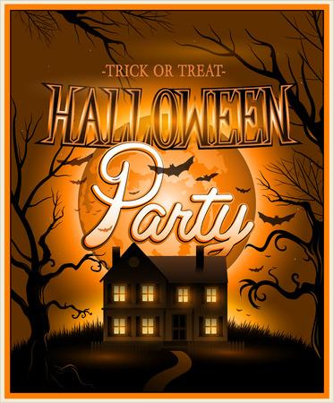 Happy Halloween Poster Vector illustration Vector