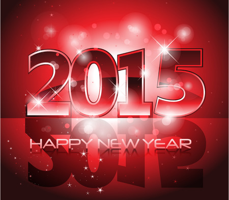 Happy New Year sparkles background card