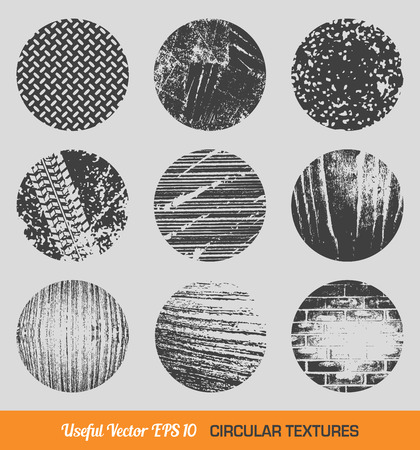 Set of vintage circular textures Vector