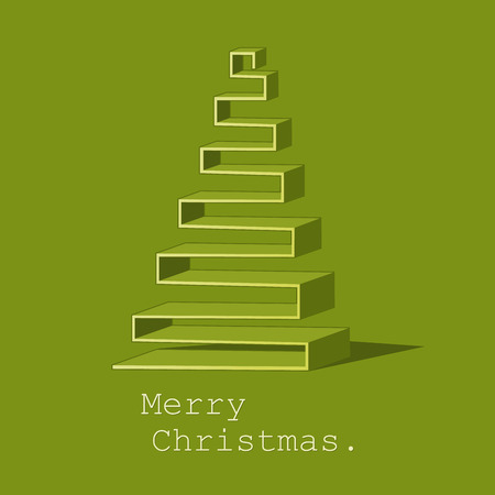 christmas greeting card: Modern abstract Christmas tree background