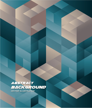 Abstract Isometric cube Background Business Design