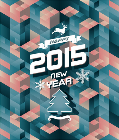 Abstract retro modern happy new year background