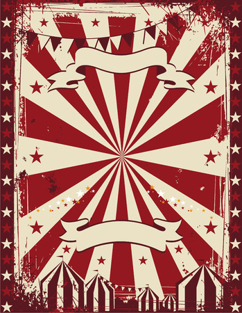 Vintage circus poster background advertising Vector