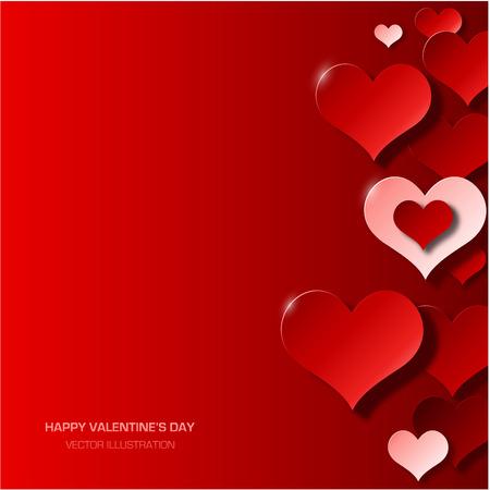 현대 발렌타인 데이 배경 일러스트