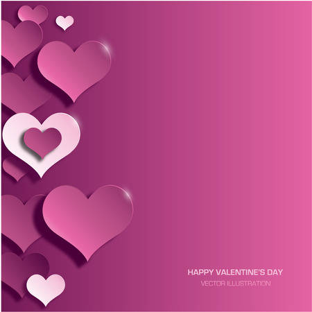 colorful heart: Modern bright valentines day background