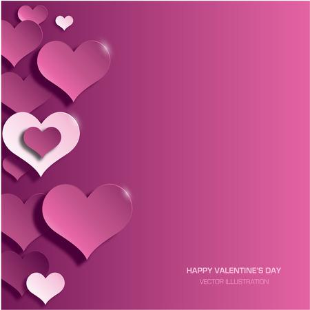 Moderne helle Valentinstag Hintergrund Standard-Bild - 34084727