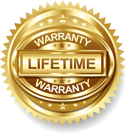 Lifetime Golden warranty label tag Vector