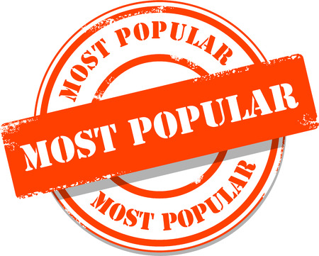 most popular: Orange most popular tag stamp