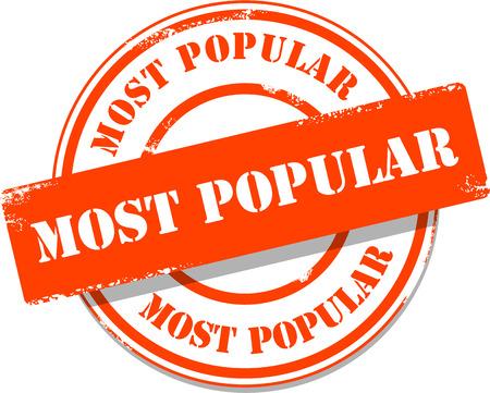 e commerce icon: Orange most popular tag stamp