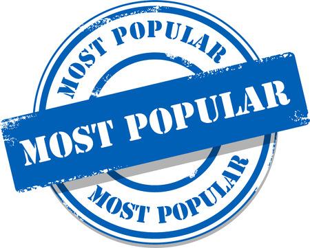 les plus: Bleu tag timbre le plus populaire Illustration