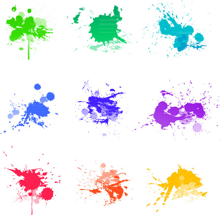 paint splat: Colorful Paint splat ink vector illustration Illustration
