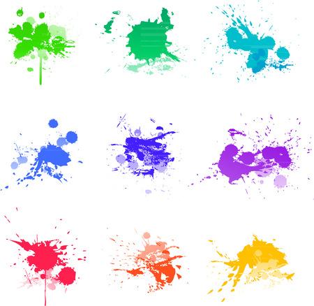 colorful paint: Colorful Paint splat ink vector illustration Illustration
