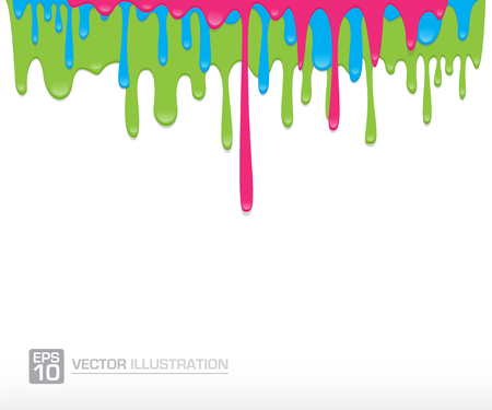 dripping: Paint colorful dripping background vector illustration Illustration