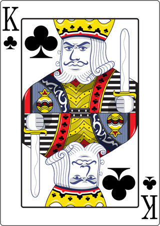 King of clubs original design Banco de Imagens - 48415794