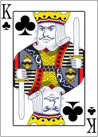 jugando: Rey de los clubes originales del diseño