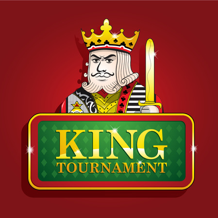 King of clubs casino poker banner tournament background