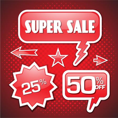 50: Blowout end of season sale 50 off speech bubble