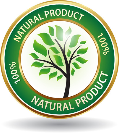 original circular abstract: Natural product symbol eco friendly website icon