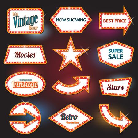 motel: Retro banner motel sign