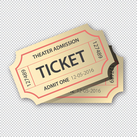 Two cinema theater tickets pair Illustration