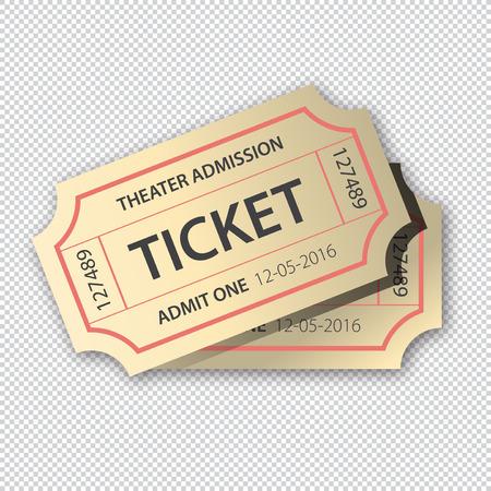Two cinema theater tickets pair Illusztráció