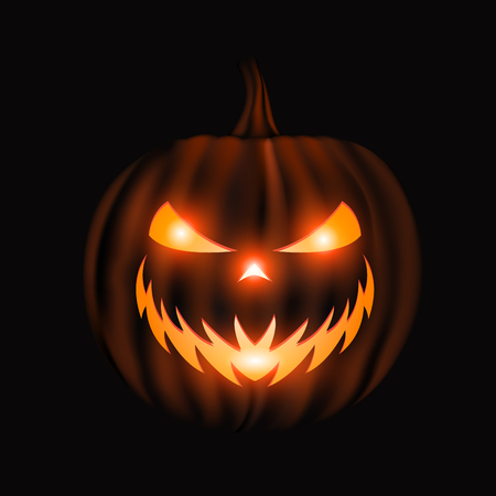 Jack o lantern face halloween background