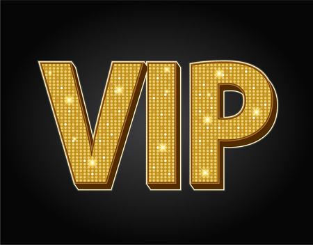 Very important person - VIP icon isolated on black background