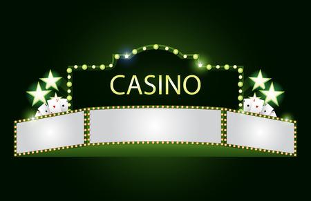 empty: Green brightly theater glowing retro cinema neon sign