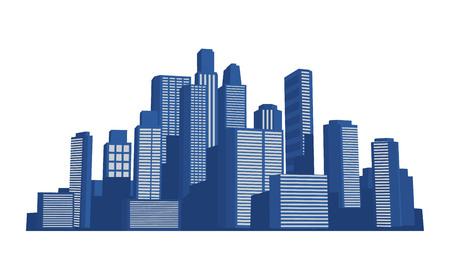 Sunrise cityscape vector stock illustration Ilustrace