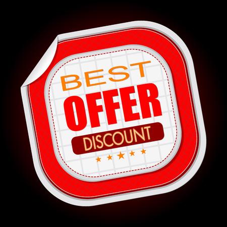 Beste aanbieding stok verkoop vectorillustratie