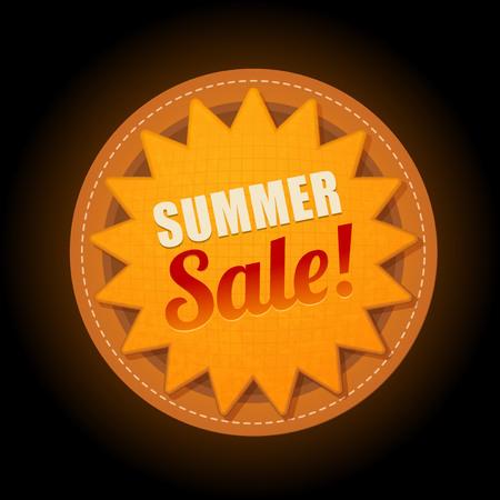 Heet zomer super verkoop zon sticker symbool teken
