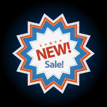 Nieuwe sticker verkoop korting symbool vector illustratie