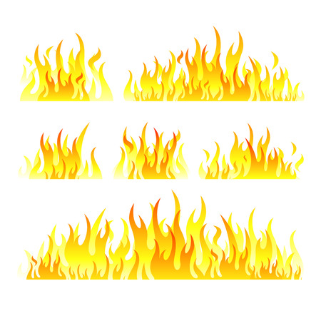 spice: Vector graphic flames illustration isolated on white background