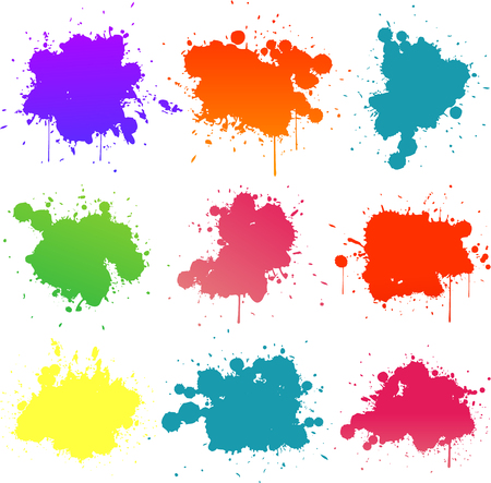 colorful paint splat Illustration