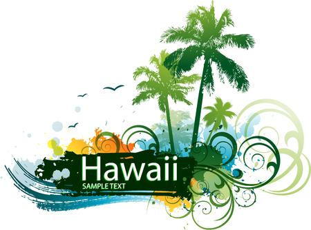 ocean waves: Hawaiian tropical background
