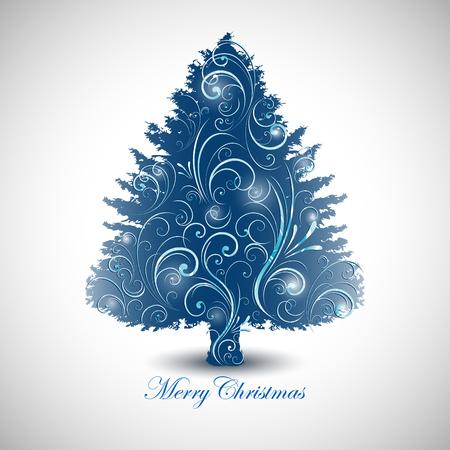 Abstract decorative christmas tree design.
