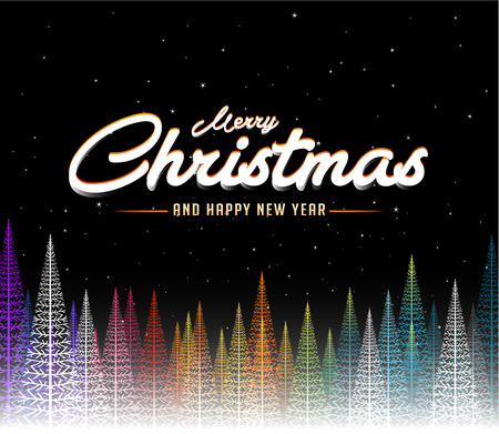 Merry Christmas abstract colorful tree background.