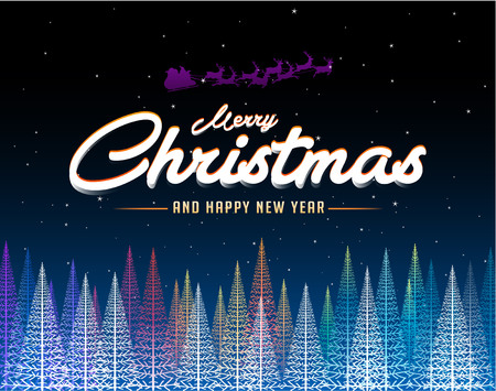 new years: Merry Christmas abstract colorful tree background Illustration