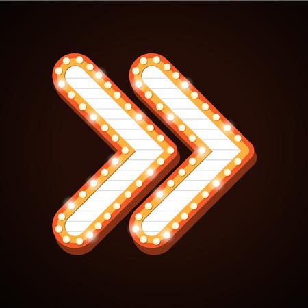 Night club billboard retro arrow light frames