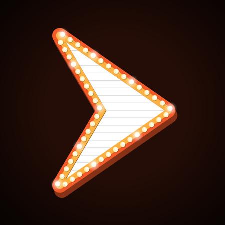 Golden arrow light frames