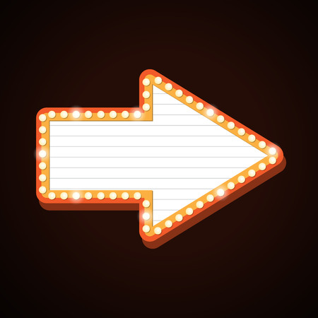 Arrow billboard retro light frames theater sign