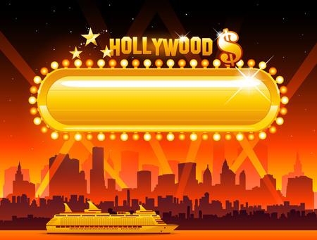 Vector Hollywood background Illustration