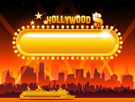 Vector Hollywood background Иллюстрация