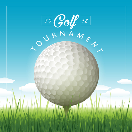 Vector golf tournament illustration background