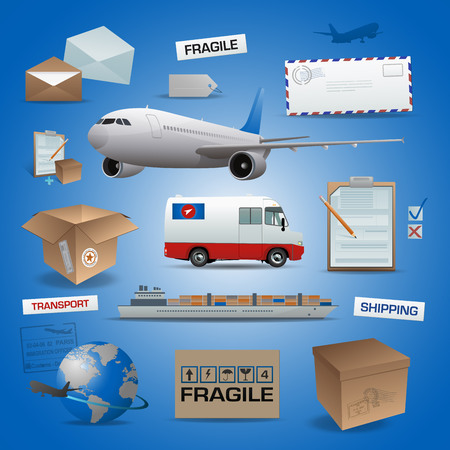 Delivery vector elements, posts and transport