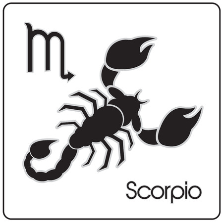Scorpio zodiac astrology sign 版權商用圖片 - 101001584